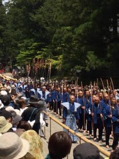 A thousand samurai for a procession